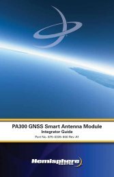 Product Name PA300 GNSS Smart Antenna Module
