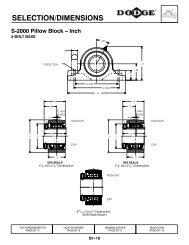SELECTION/DIMENSIONS S-2000 Pillow Block -- Inch - PTplace.com
