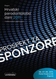 Prospekt za sponzore - Conventus Credo