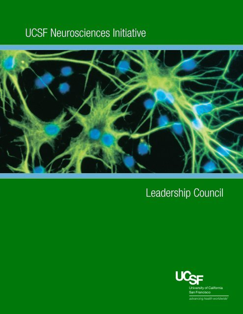 UCSF Neurosciences Initiative Leadership Council - Support UCSF