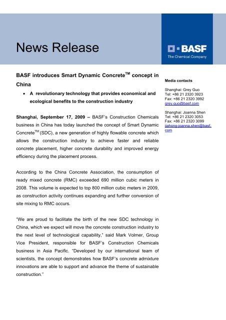 News Release - BASF com