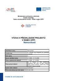 Výzva v rámci OPPI pro program Nemovitosti včetně ... - CzechInvest