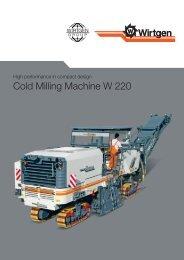 Cold Milling Machine W 220 - Wirtgen GmbH