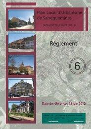 Règlement - Ville de Sarreguemines