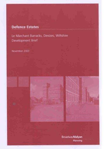 le_marchant_barracks_development_brief.pdf Le ... - Wiltshire Council
