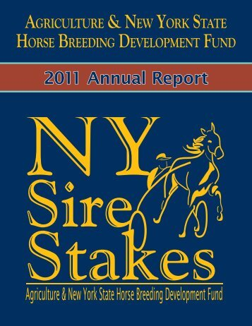 2011 Annual Report - New York Sire Stakes