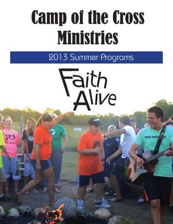 Summer Brochure - Camp of the Cross Ministries