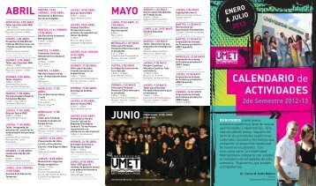 Calendario de Actividades - Sistema Universitario Ana G. Mendez