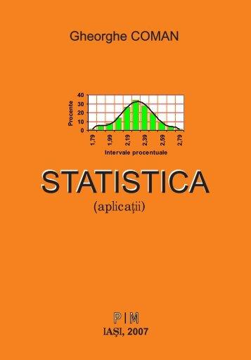 Statistica - teorie si aplicatii - PIM Copy