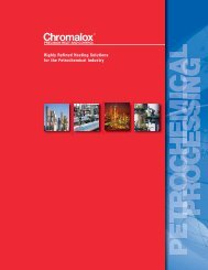 View our Petrochemical Processing Industry Brochure - Chromalox ...