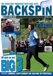 INSIDE:ANNUAL SUPPLEMENT ON GOLFING IN PORTUGAL
