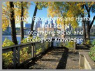Developing a research agenda for urban ecosystems and ...