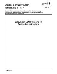Outsulation® LCMD Systems 1-5 - DS172 - Dryvit