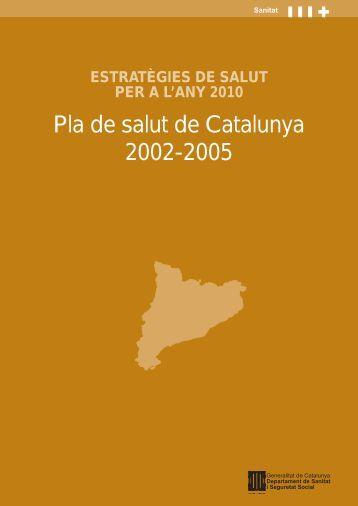 pla de salut portades - Generalitat de Catalunya