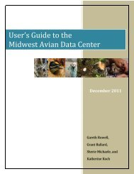 MWADC USER'S GUIDE - PRBO Conservation Science