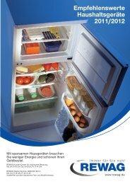 Empfehlenswerte Haushaltsgeräte 2011/2012 - Rewag