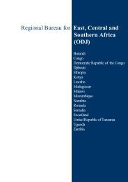 Regional Bureau for East, Central and Southern Africa (ODJ)