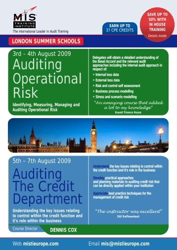 Auditing The Credit Department Auditing Operational ... - MIS Training