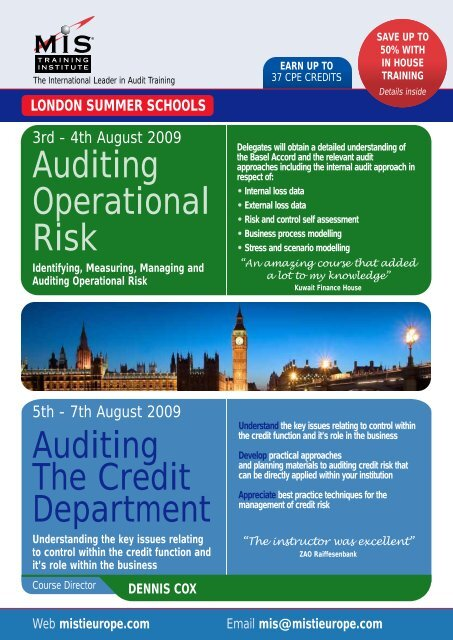 Auditing The Credit Department Auditing Operational