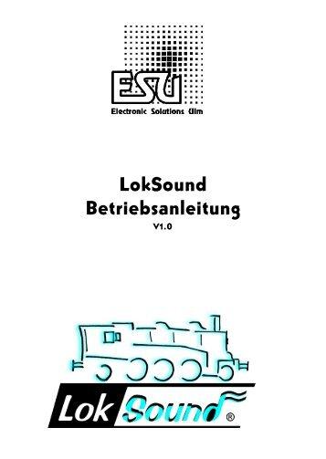 Betriebsanleitung LokSound - MJ Hobby