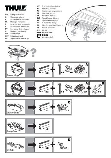thule tour 510 fitting instructions