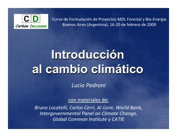 Introducción al cambio climático.