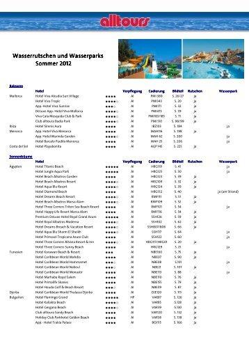 Wasserrutschen Sommer 2012