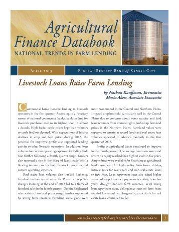 Livestock Loans Raise Farm Lending - Federal Reserve Bank of ...