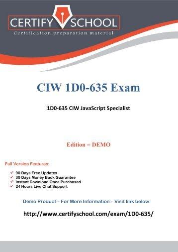 1D0-635 Exam