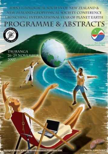 2007 Tauranga Abstracts - Geoscience Society of New Zealand