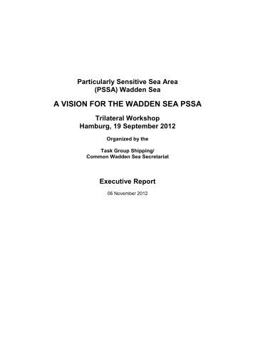 PSSA Workshop Report 2012 - Trilateral Wadden Sea Cooperation