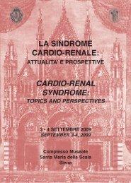 La sindrome cardio-renale. Attualità e prospettive - Unisi.it ...