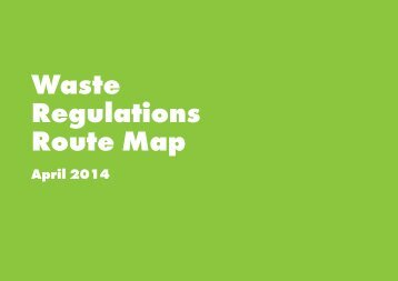 Waste Regulations Route Map April 2014