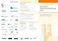 Deutsche Biotechnologietage 2011 - Bio M