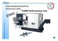 Universaldrehmaschine Universal Lathe TC800 ... - Litz Hitech Corp.