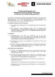 Teilnahmebedingungen zum Wettbewerb Deutscher ... - Wochenkurier