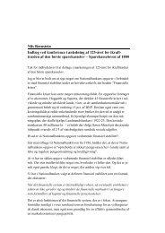 Nils Bernstein Indlæg ved konference i anledning af ... - Finanstilsynet