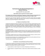 Doctoral Programme in Natural Sciences - mibla.TUGraz.at - Graz ...