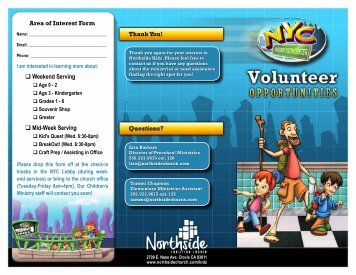 Download The Volunteer Brochure - Northside Christian Church