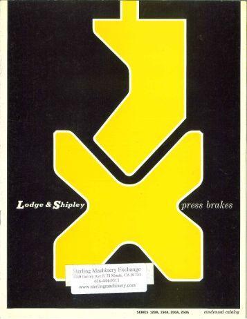 Lodge & Shipley Press Brakes Brochure - Sterling Machinery