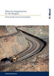 Broschüre - Effiziente Anlagentechnik für den Bergbau - ProMinent