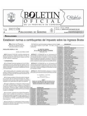 SECCIÓN - Boletín Oficial de la Provincia de Córdoba