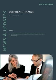 Indhold: 1. Ny bekendtgørelse om prospekter for ... - Plesner