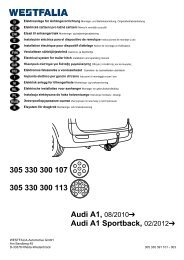 305 330 300 107 305 330 300 113 Audi A1 Sportback, 02/2012