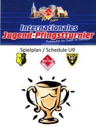Spielplan / Schedule U9 - FC Rheinsüd