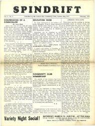 spindrift feb 1952 - Cordova Bay Association for Community Affairs