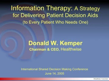 Download a 1.33 MB PDF version of the presentation - Patient ...