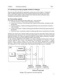 8. Centrinio procesoriaus įrenginio struktūra ir funkcijos 8.1 ...