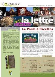 La Lettre n°169, juin 2011 - Cormery