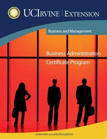 Business Administration Certificate Program - UC Irvine Extension ...